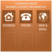 Business form, contact information background — Stock Vector