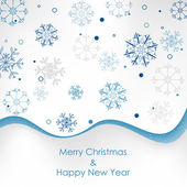 Christmas card, background with christmas decoration — Vecteur