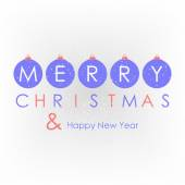 Christmas card, background with christmas balls — Vecteur