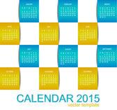 Vector template design - calendar 2015 — Stock Vector