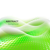 Abstraktní vektorová zelené pozadí — Stock vektor