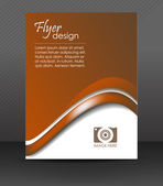 Professional business flyer template or corporate banner, brochure, cover design — Stock Vector