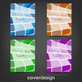 Set of business flyer template, corporate banner or cover design — Stock Vector