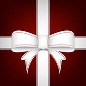 Christmas ribbon, vector illustration — Stock Vector