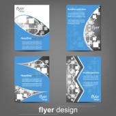 Set of business flyer template, corporate banner, cover design — Stockvektor