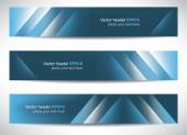 Web header or banner with precise dimension — Stockvektor