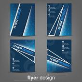 Set of business flyer template for cover design, document folder or brochure — Stock Vector