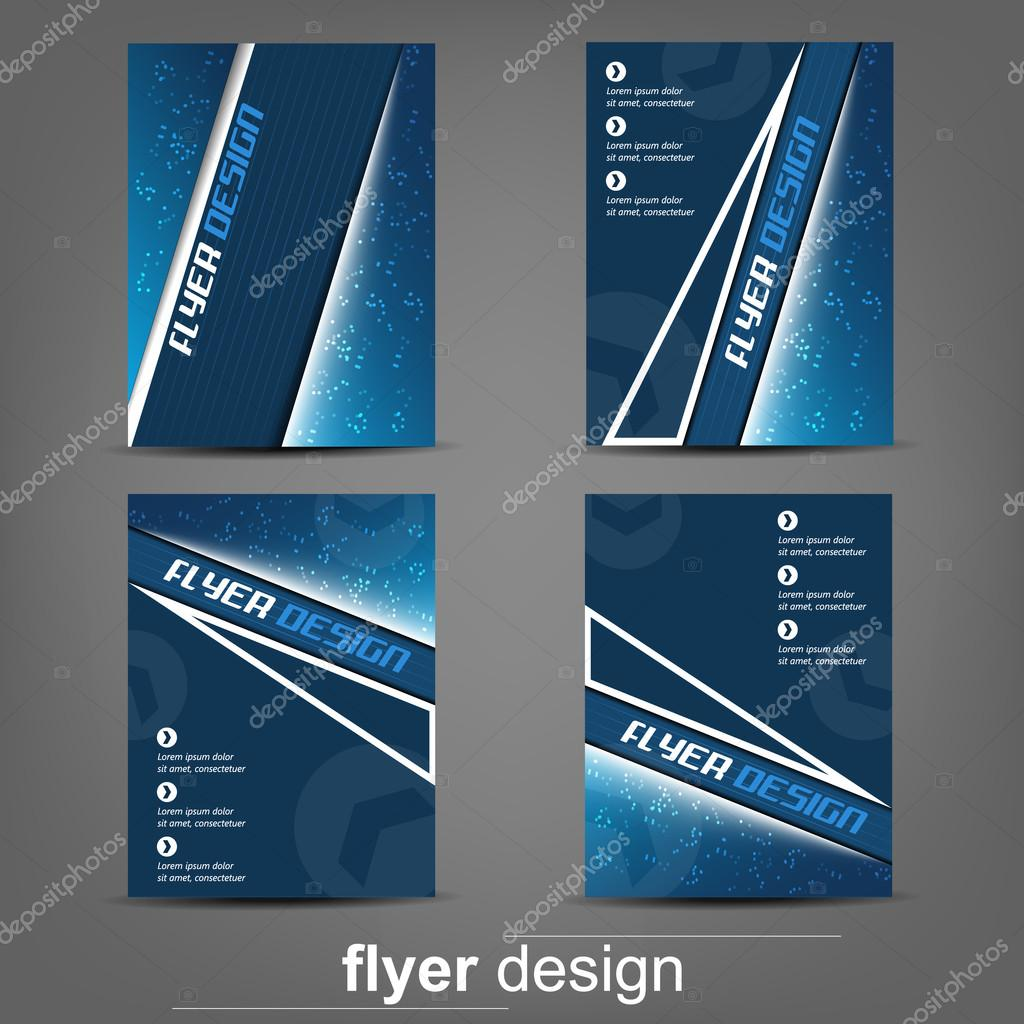 set of business flyer template for cover design document folder set of business flyer template for cover design document folder or brochure stock vector