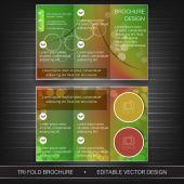İş üç katlı el ilanı şablonu, broşür veya kapak tasarımı — Stok Vektör