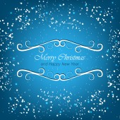 Christmas greeting card with snowflakes for happy holiday — Stock Vector
