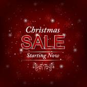Christmas background with sale offer — Stock Vector