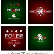 Set of poker vector background with card symbol — Stock Vector #59024841