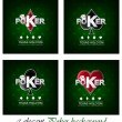 Set of poker vector background with card symbol — Stock Vector #59032869