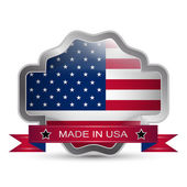 Made in the USA icon or button, stamp badge American buy — Stock Vector