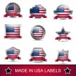Set of made in USA labels or badges. Vector icons. — Stock Vector #59683063