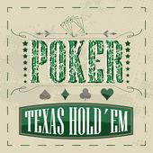 Texas holdem poker retro background for vintage design — Stock Vector