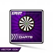 Дартс спортивных Векторный icon — Cтоковый вектор