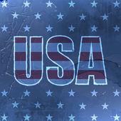 USA retro background with grunge effect for vintage design — Stockvektor