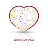 Heart with natural pattern on a white background — Stock Vector