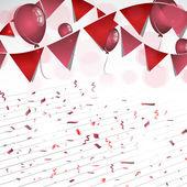 Balloons, confetti and decoration — Vector de stock