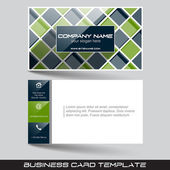 Business card template with front and back side — Stock Vector