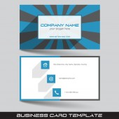 Business card template — Stock Vector