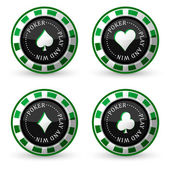 Poker vector icons — Stock Vector