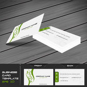 Business card vector template with front and back side — Stock Vector