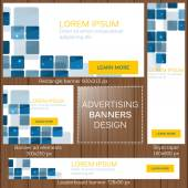 Advertising banners in different sizes for your web — Stock Vector