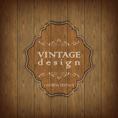 Wooden texture vector background in vintage style — Stock Vector