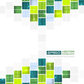 Abstract technological vector background with square pattern — Stock Vector