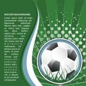 Soccer background in retro style, vector illustration — Stock Vector