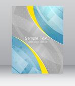 Abstract flyer or cover design vector template, brochure, folder for business presentation — Stock Vector