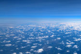 Aerial view of clouds and sky — Stock Photo