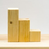 Wooden geometrical pieces - details and texture — Stock Photo