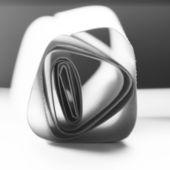 Formas de papel preto e sombras com fundo de papel preto — Fotografia Stock