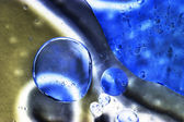 Abstract, colorful composition with oil, water and ink — Stock Photo