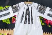 Romanian traditional blouse - textures and traditional motifs — Stock Photo