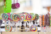 Lolly pops, cookies, cakes and other sweets — Stock Photo