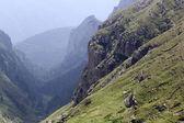 Landschap van bucegi bergen, een deel van de zuidelijke Karpaten in Roemenië — Stockfoto