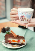 Handmade cup of Christmas mood — Stockfoto
