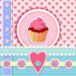 Valentins Day card with cupcake — Stock Vector #72245047