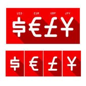 Cyrrency set — Stock Vector