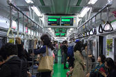 SUBWAY, SOUTH KOREA OCT 5, 2013: Korean people use the subway to — Stockfoto