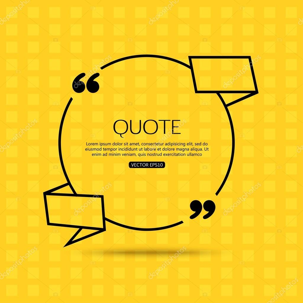 quote template for social networking business newspaper quote template for social networking business newspaper magazine and advertising action quote bubble template quote form quote marks print design