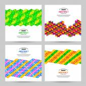 Set of four abstract geometric backgrounds — Stockvektor