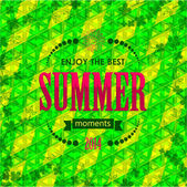Summer typographical background — Stock Vector