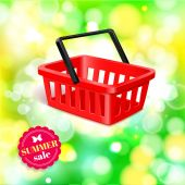 Summer sale shining background — Stock vektor