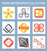 Paper infographics collection. — Stock Vector