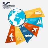 Travel infographic elements — Vecteur